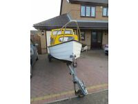 Mayland 14 ft fishing boat with galvanised steel trailer