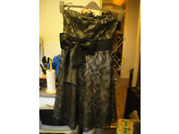 New Look formal black strapless dress size 8