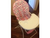 Cot & Mattress, Highchair & Bath All Included