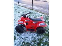 Red buzz 50 quad. Basically brand new only been used once. Got it brand new from motorbike shop.