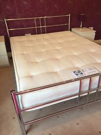 King size frame and mattress-like new