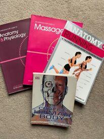 Massage/ running/ anatomy and body books