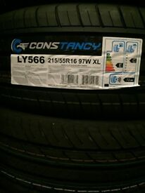 Pair of Brand New Tyres 215/55R16