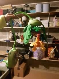 Cot mobile and pram/car seat toy bar