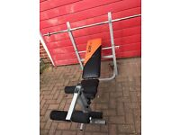 V fit Weights Bench, Bar & Weights