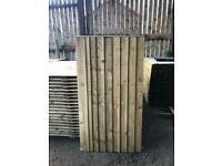 Heavy duty vertical feather edge gates, tanalised, pressure treated, from £45