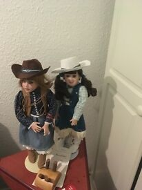 Two limited edition porcelain dolls