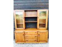 Ercol Windsor 455 Sideboard and Display Dresser Golden Dawn