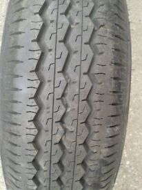 Caravan spare wheel new tyre 175/65R14C