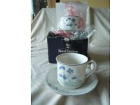 Royal Doulton Minerva Cups, Saucers and Milk Jugs