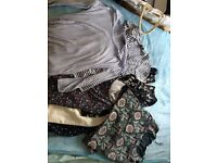 Selection of maternity clothes, h&m, new look, mothercare and debenhams.
