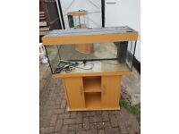 Juwel rio 180 litre fish tank and stand in light wood