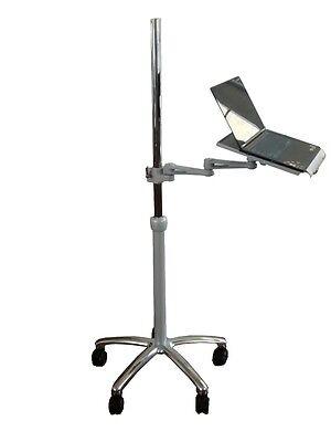 DVC02-DLPTA  Rolling Laptop Pole Stand & Desk - Adjustable - Sit Stand