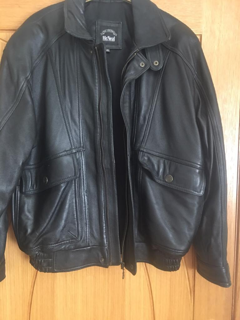 Black leather jacket size Smallin Jarrow, Tyne and WearGumtree - New leather jacket with out tags. It is a bomber jacket with zip fastening and 2large pockets on front with stud fastening. Lining polyester. 1zip close inside pocket