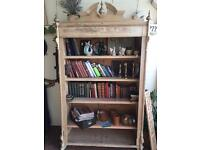 Old pine bookcase