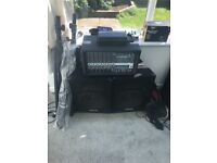 peavey xr600f mixer/amp and 2x yamaha se12 speakers