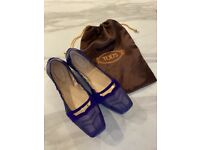 Tods leather ladies shoes
