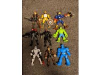 Masher characters - various Marvel & Star Wars x9 with accessories