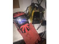 Mig Welder & face mask & gloves