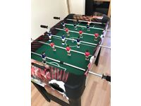 Table football with extra board games