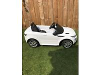 Kids 12v Electric Range Rover Evoque Car