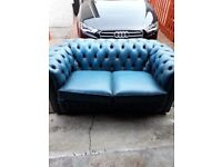 2x Two Seater Chesterfield Sofas