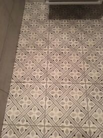 Laura Ashley grey patterned tiles