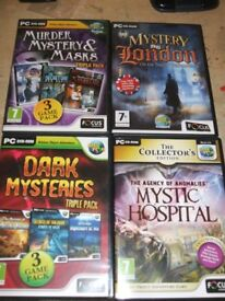 Computer Adventure and Mystery Games on PC CD - Rom