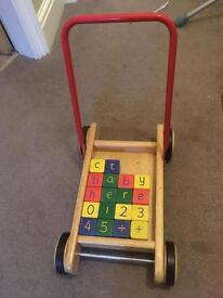 Pintoy traditional wooden baby walker