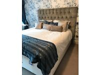 White Company Bedroom set. Superking Mattress, Divan and Headboard