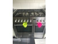 Neff duel Fuel 6 burner gas hob with large oven and grill attached plus microwave oven