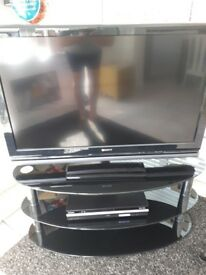 SONY TELEVISION /SONY DVD PLAYER/ RECORDER /TV STAND