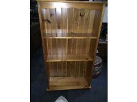 Beautiful Solid Pine Bookcase Adjustable Display Shelving, Bookshelves