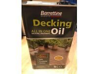 Decking oil 5L Brand new