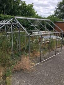 2 glass house frames for sale