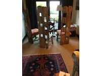 DRIFTWOOD STYLE, HANDCRAFTED, HARDWOOD CHAIR