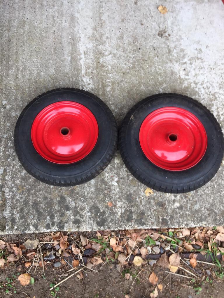 Wheels for wheelbarrow/trolleys