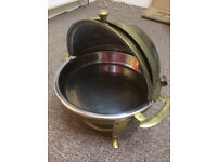 Traditional Copper/Steel barbecue/food warmer