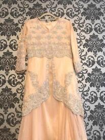 Champagne Embroidery Asian dress