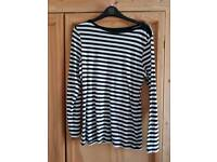 Cotton high neck, long sleeved tops 12/14