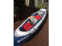 3man inflatable kayak w ith accessories