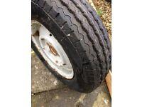caravan tyre on steel rim
