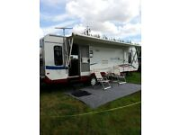 American Caravan Jay Feather LGT 29 D 2008 would part exchange for six berth motorhome in good con.