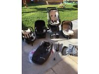 Concord Neo Travel System - Carrycot, pushchair, two car seats, isofix base, plus extras