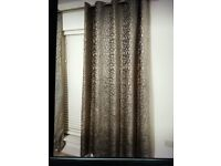Luxury lined curtains.. silver grey, 66 x 90 inches drop