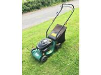 Petrol lawn mower. Lawnmower.