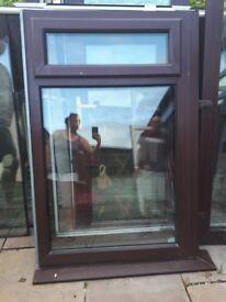 "Upvc window 1650 x 1470. 1mtr x 58"" doors 1680 x 1950"