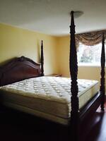 Queen size box mattress and headboard...and many more