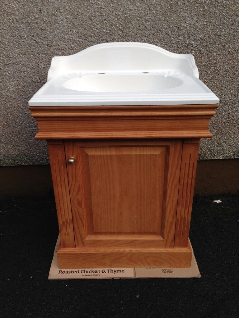 Cloakroom / vanity sink unit complete with sink
