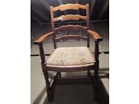 Two Traditional Oak Carver Chairs.